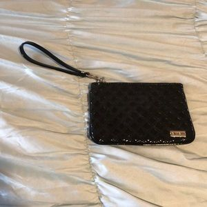 Express, black, synthetic leather makeup/purse.